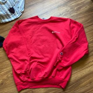 Vintage red scripted champion sweatshirt